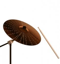 crash cymbal vector image vector image