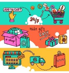 E-commerce Banner Set vector image vector image