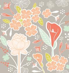 flower pattern set 1A vector image vector image
