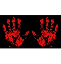 Hands trace bloody vector