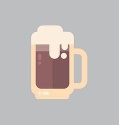 beer mug icon oktoberfest festival concept vector image
