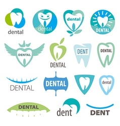 biggest collection of logos dentistry vector image vector image