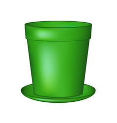 Empty flowerpot in green colour vector