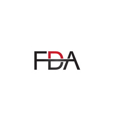 fda letter logo vector image