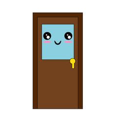 Isolated big door vector