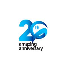 20 years amazing anniversary celebration template vector