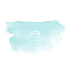 Abstract isolated mint watercolor splash vector