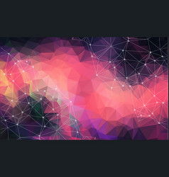 abstract space colorful dark background vector image