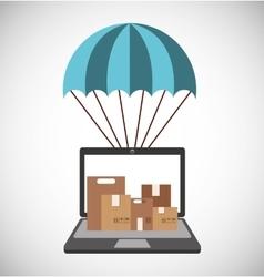 Air courier service icon vector