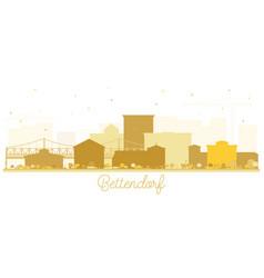 bettendorf iowa goldenskyline silhouette vector image