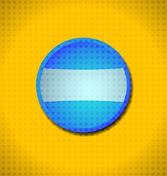Blue button frame vector image