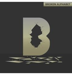 Broken B letter vector image