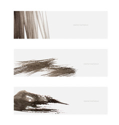 brush stroke object with japanese wave pattern vector image
