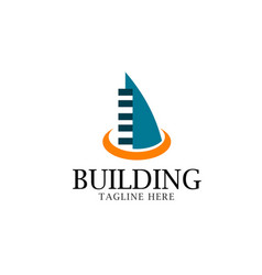 Building logo template design vector