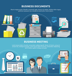 business items flyer set vector image