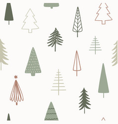 christmas season seamless pattern hand drawn vector image