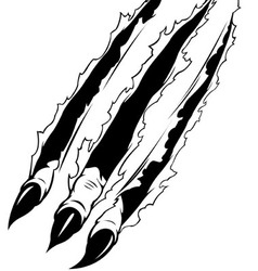 Claws Ripping Paper vector image