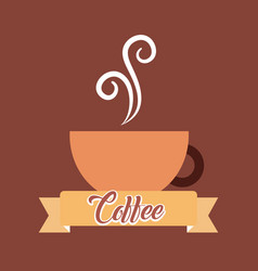 coffee time card vector image