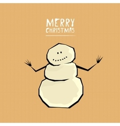 comic cartoon merry christmas vector image