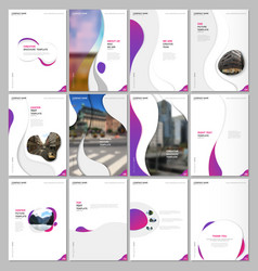Creative brochure templates with fluid colorful vector