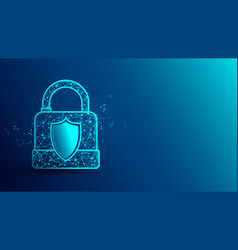 Cyber security and padlock icon vector