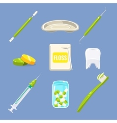Dentist Icons and Teeth Care Set vector