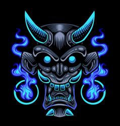 Devil head mascot logo design vector
