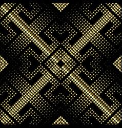 Digital halftone 3d seamless pattern modern vector