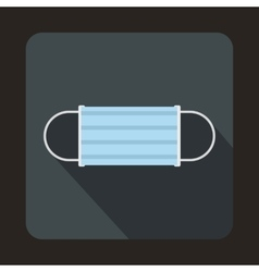 Disposable face mask icon flat style vector image