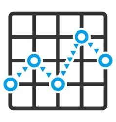 Dotted Line Grid Plot Flat Symbol vector image
