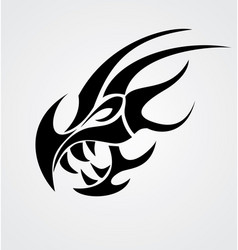 Dragon Head Tribal vector image