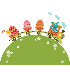 Easter travel vector image