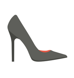 Elegant classic black stiletto shoe isolated vector