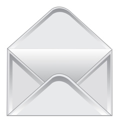 Empty postal envelope vector