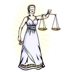 Femora godess of justice vector