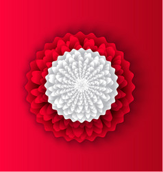 flower decoration made of paper chinese style vector image