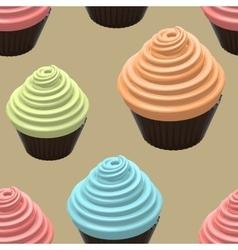 Food Of Cupcake vector image