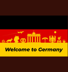 germany background design traditional vector image