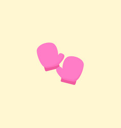 gloves icon flat element of vector image