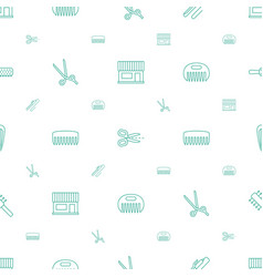 Hairdressing icons pattern seamless white vector