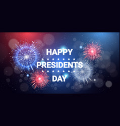 happy president day concept united states holiday vector image
