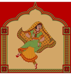 Indiane woman dance vector