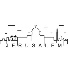 Jerusalem outline icon can be used for web logo vector