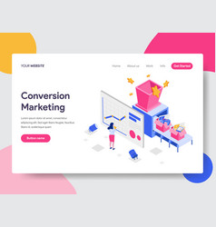 landing page template of conversion marketing vector image
