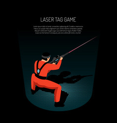 Laser tag isometric poster vector