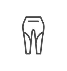 Leggings line icon vector