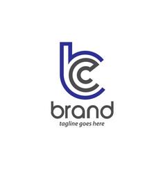 Letter bc logo vector