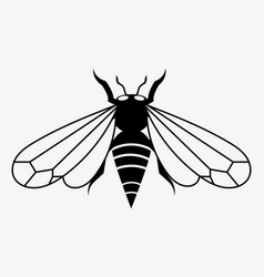 Logo of the bee black and white bee icon vector