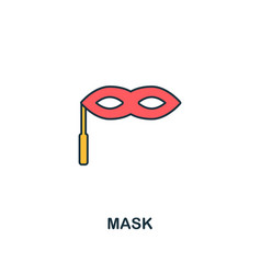 mask icon creative 2 colors design frommask icon vector image