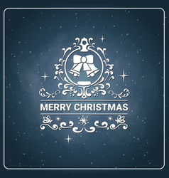 Merry christmas icon vintage chalk board vector